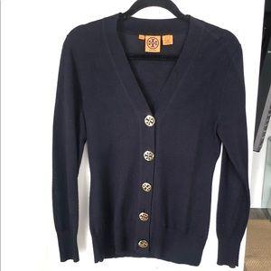 Tory Burch V-Neck Merino Wool Cardigan